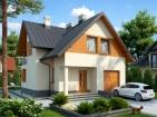 Уютный одноэтажный дом с гаражом и мансардой